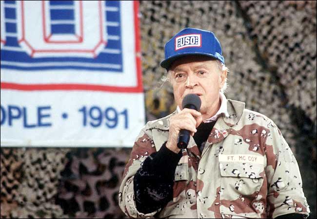Bob Hope Visiting Troops