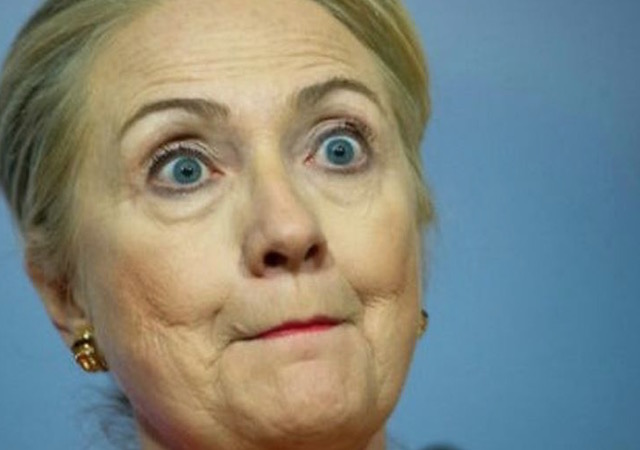 Image result for hillary shocked
