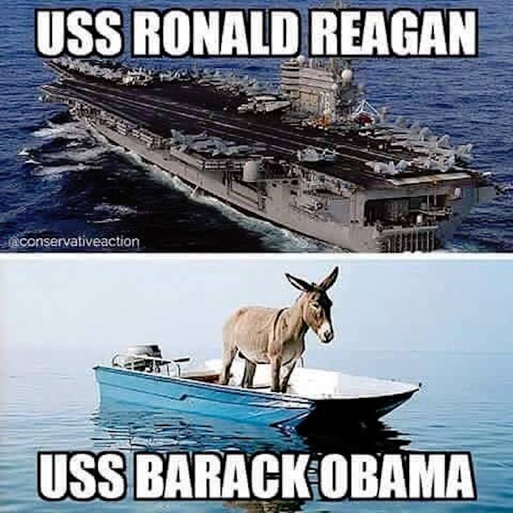 Ha Ha This Image Shows The Uss Ronald Reagan Vs The Quot Uss